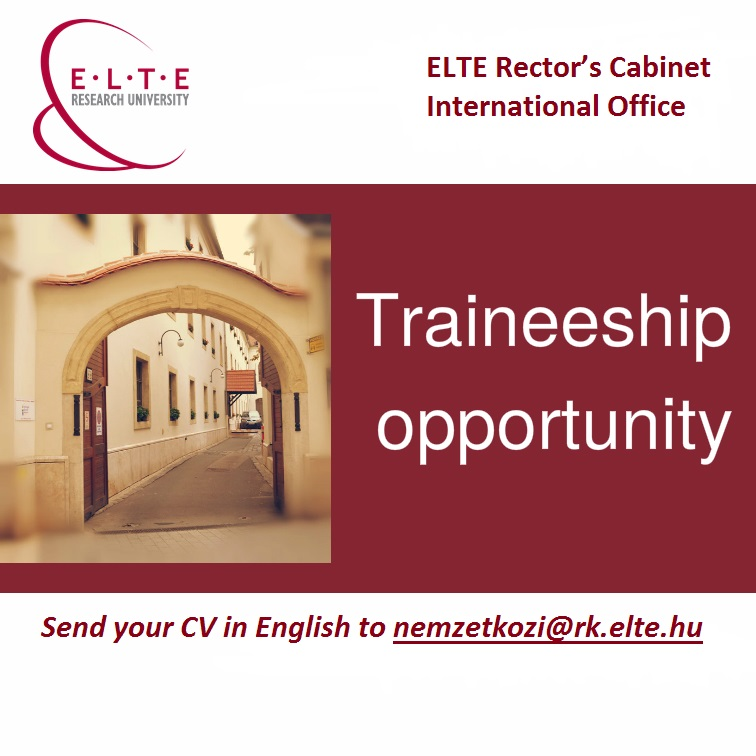 ELTE International Office Traineeship 2016 2017